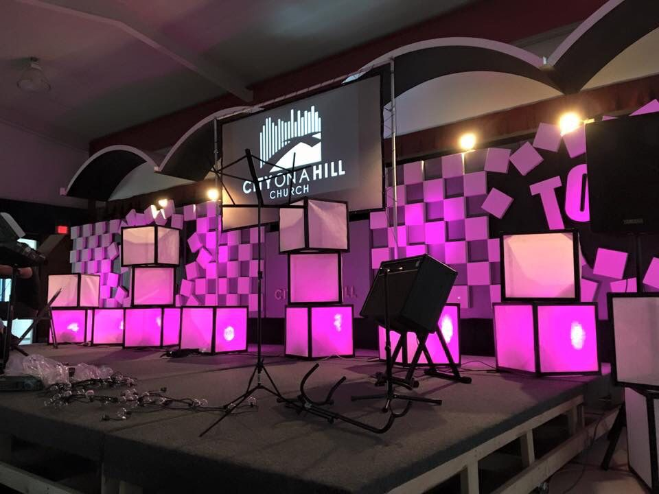 City On A Hill Church Diy Stage And Back Panel Design All