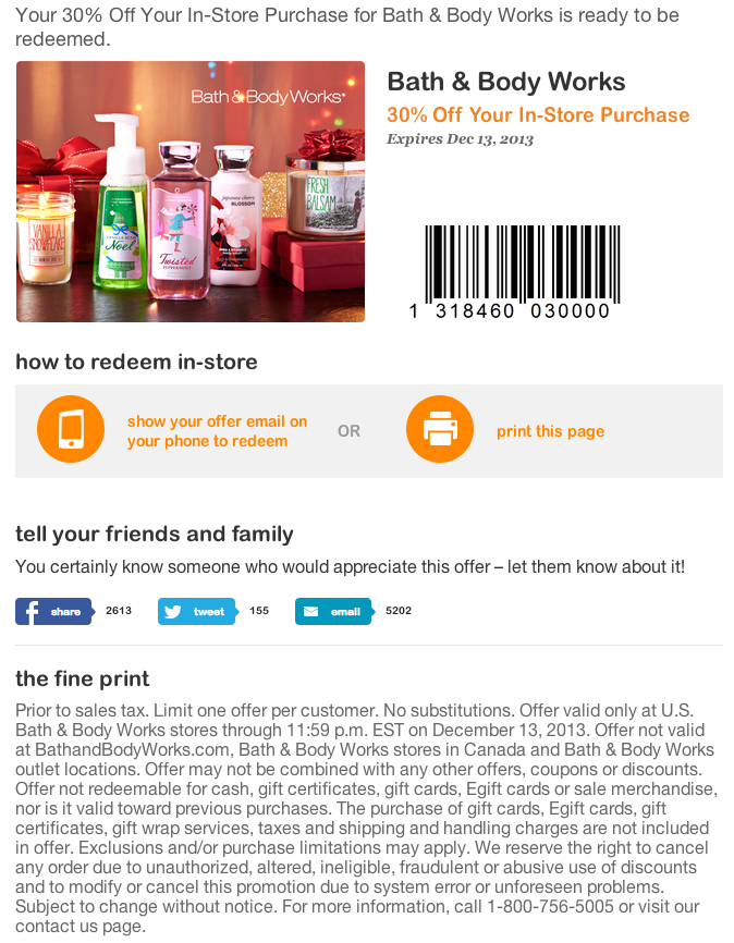 This is a graphic of Gratifying Bath and Body Printable Coupons in Store