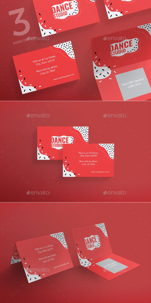 Dance Studio Business Card | Dance studio, Business cards and ...