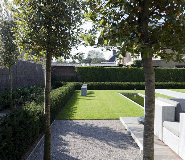 Modern landscape architecture by filip van damme modern landscaping pinterest tuin tuinen - Moderne tuin ingang ...
