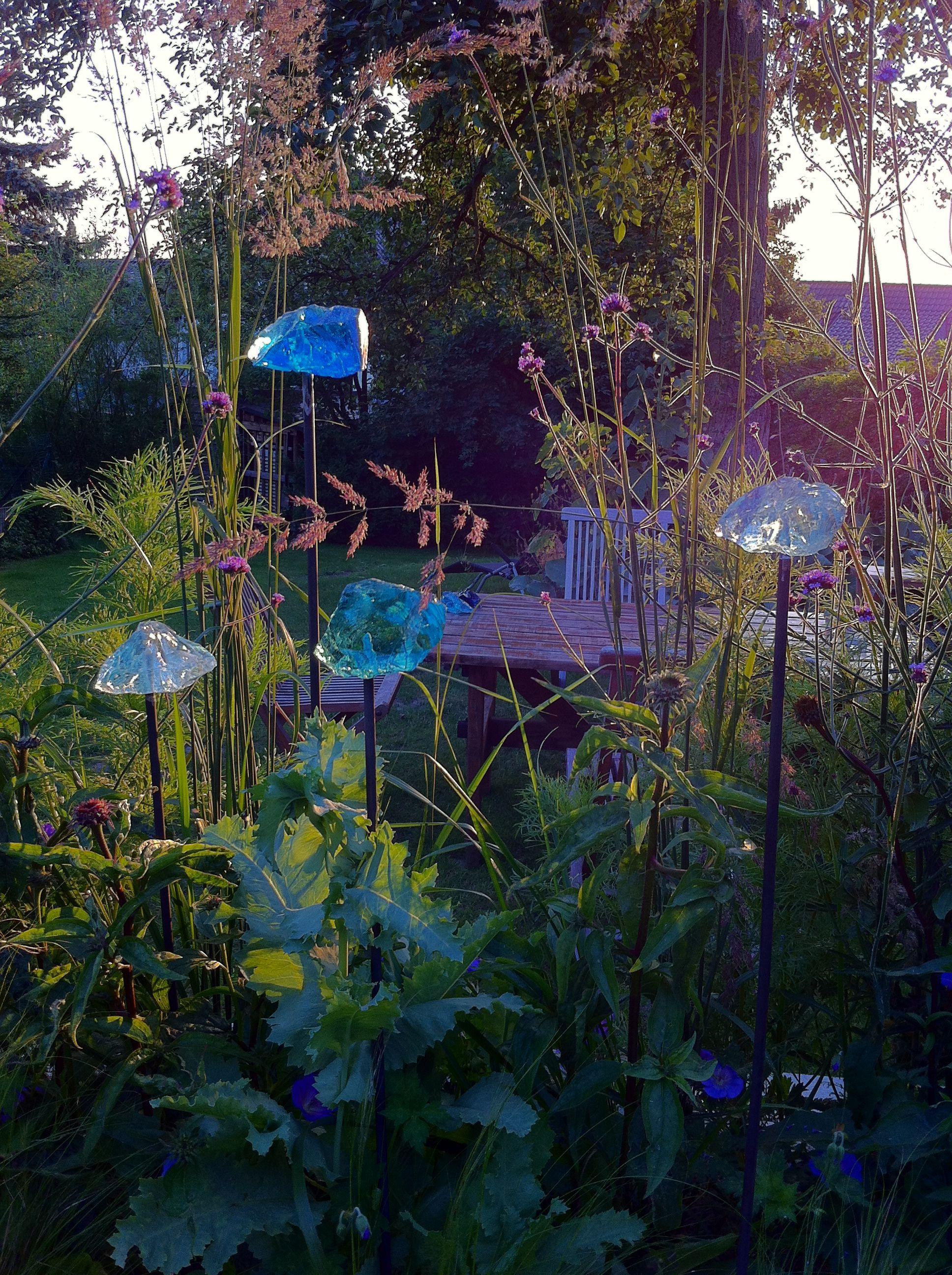 Schön Glassteine Garten Schema