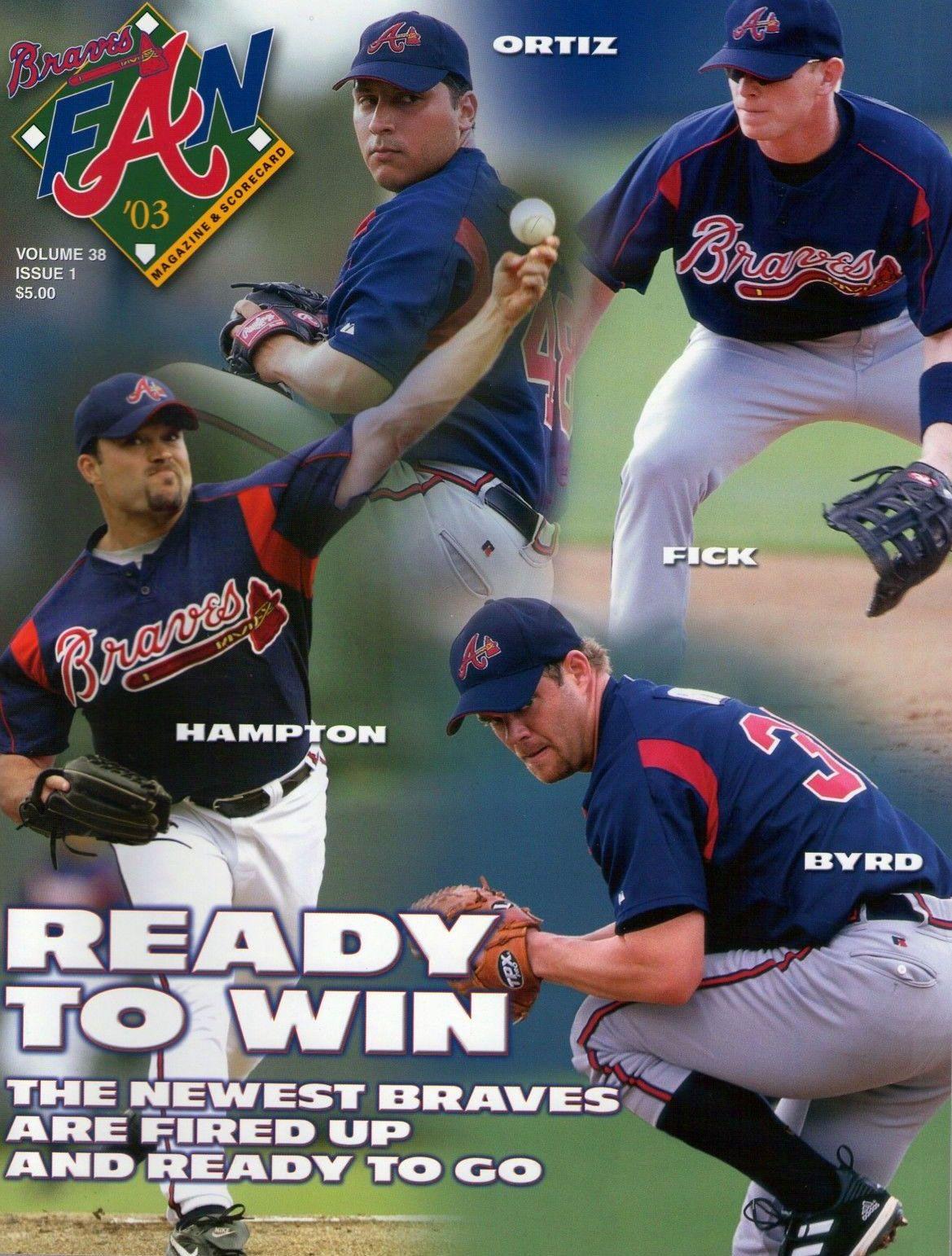 Atlanta Braves Program 2003 Atlanta Braves Braves Atlanta