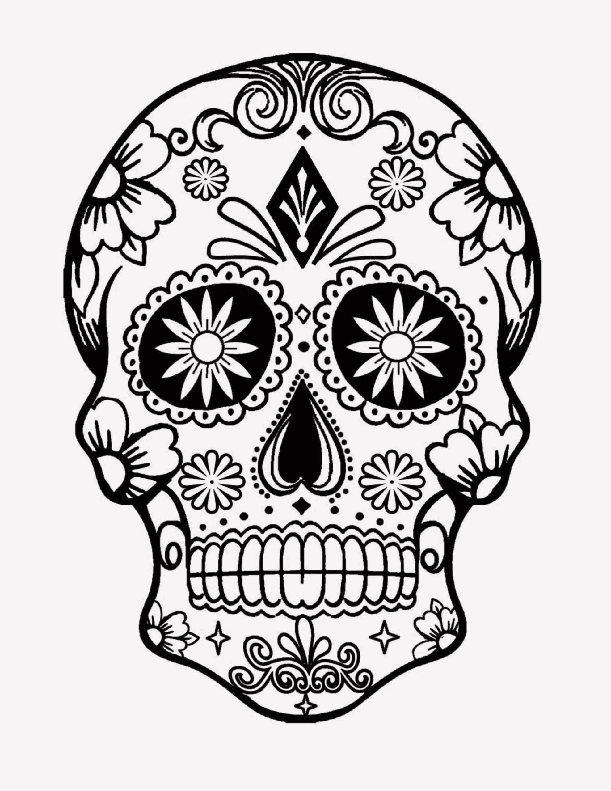 15 Badass Skull Coloring Pages In 2020 Skull Coloring Pages Mandala Coloring Pages Owl Coloring Pages