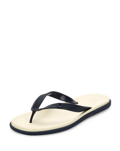 66788a51031bec SALVATORE FERRAGAMO Guinea Gancini Flip-Flop Sandal