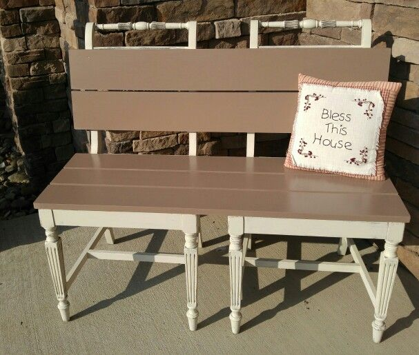 Chairs To Bench! Drop Cloth And Mud Puddle