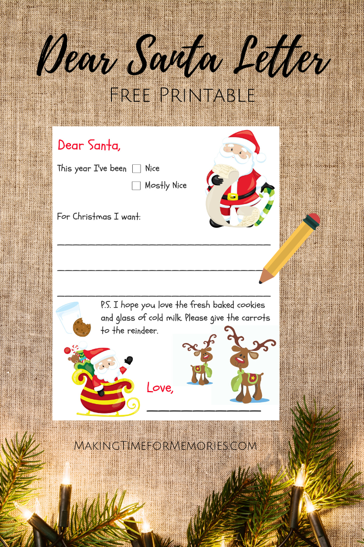 Do You Know What Your Kids Want For Christmas Use This Free Printable Dear Santa Letter And Let Your Kids Write Th Dear Santa Letter Dear Santa Santa Letter