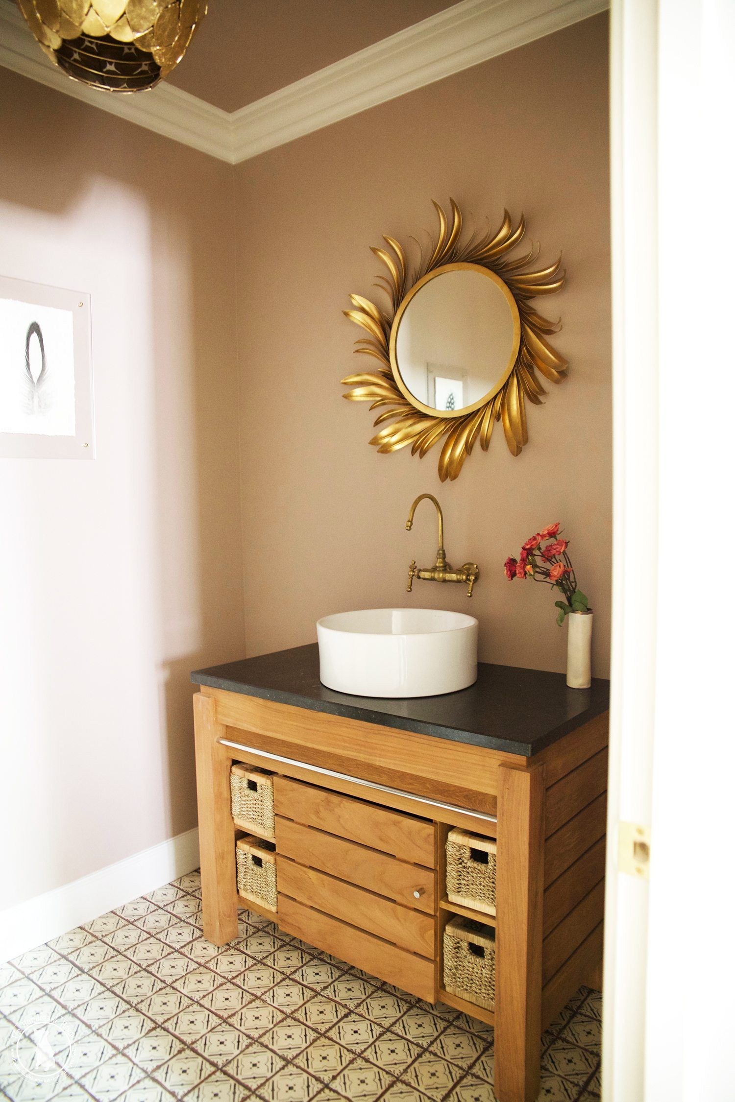 a half bath remodel with major character