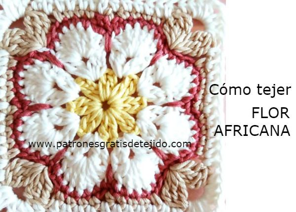 Cómo tejer flor africana a crochet | Ganchillo grannys | Pinterest ...