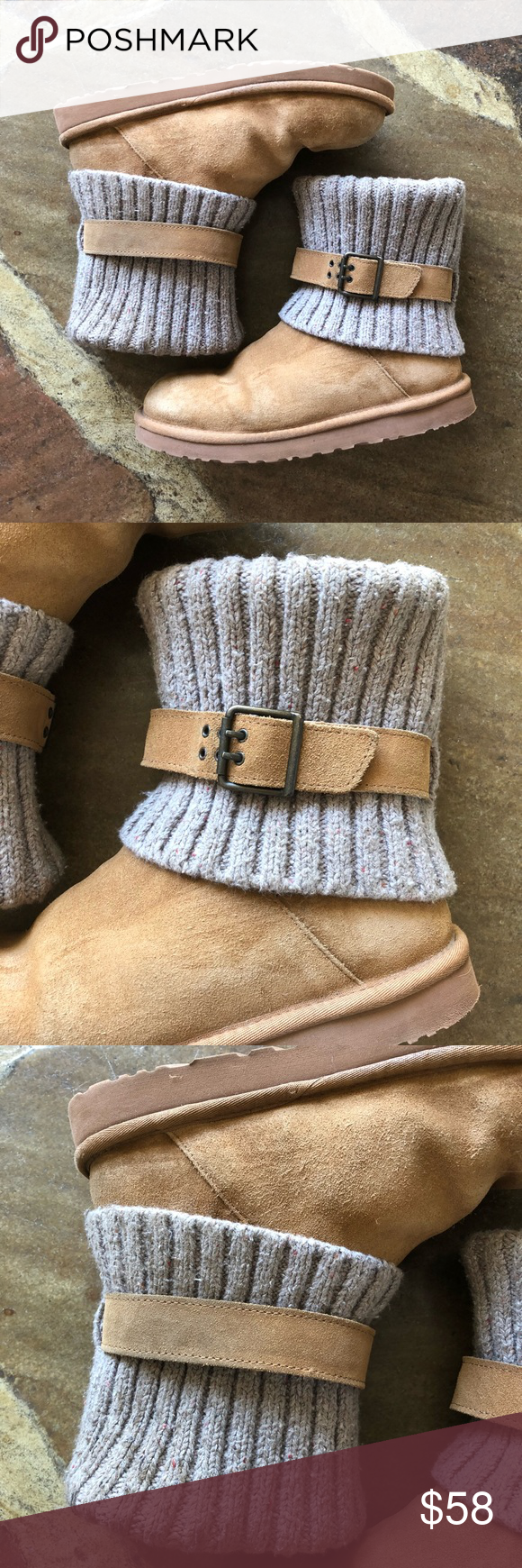 508d55b103f Ugg Cassidy Knit Cuff Sweater Boot, sz 10 Adjustable buckle strap ...