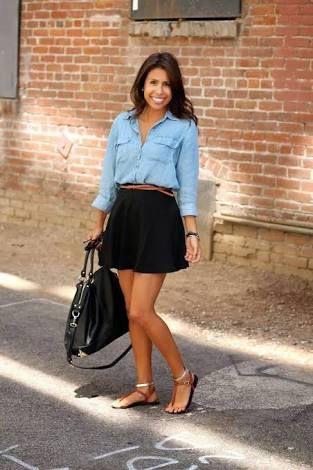 157ca8263 falda tubo corta negra - Buscar con Google | Ropa Casual | Outfits ...