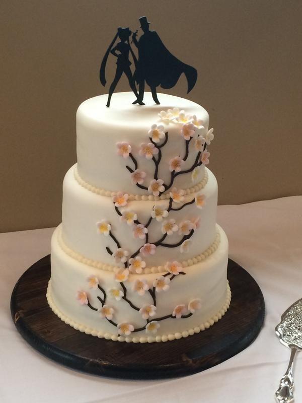 Sailor Moon Themed Wedding Topper Cake In 2018 Pinterest