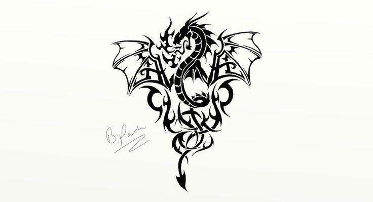 Photo of Tribal Dragon Tattoos   Tribal Dragon Tattoo von ~ DaBlackDevil auf deviantART, #on #DaBlac …