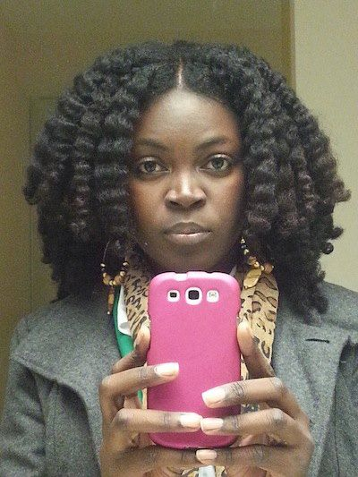 Tori from Jamaica. Click the link for Tori's natural hair photos and regimen