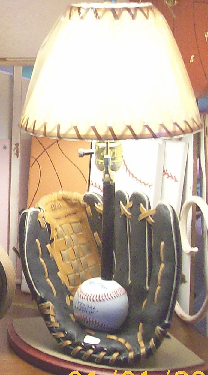 Baseball glove lamp furniture pinterest gloves room and baseball glove lamp geotapseo Image collections