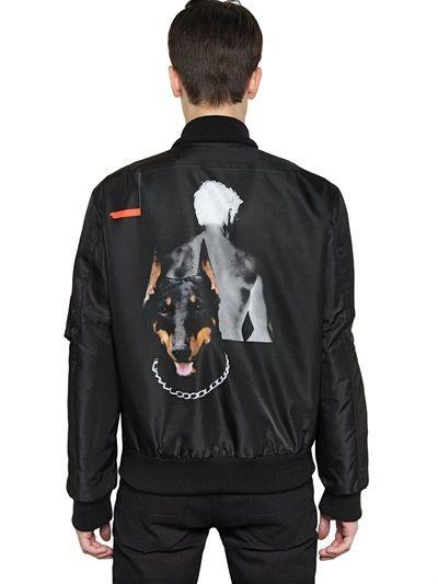 ef7b8d8a9af Givenchy Doberman Printed Nylon Bomber Jacket on shopstyle.com ...