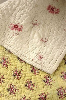 Antique French Provencal Quilt Provence 18th 19th Century Yellow Ground | eBay