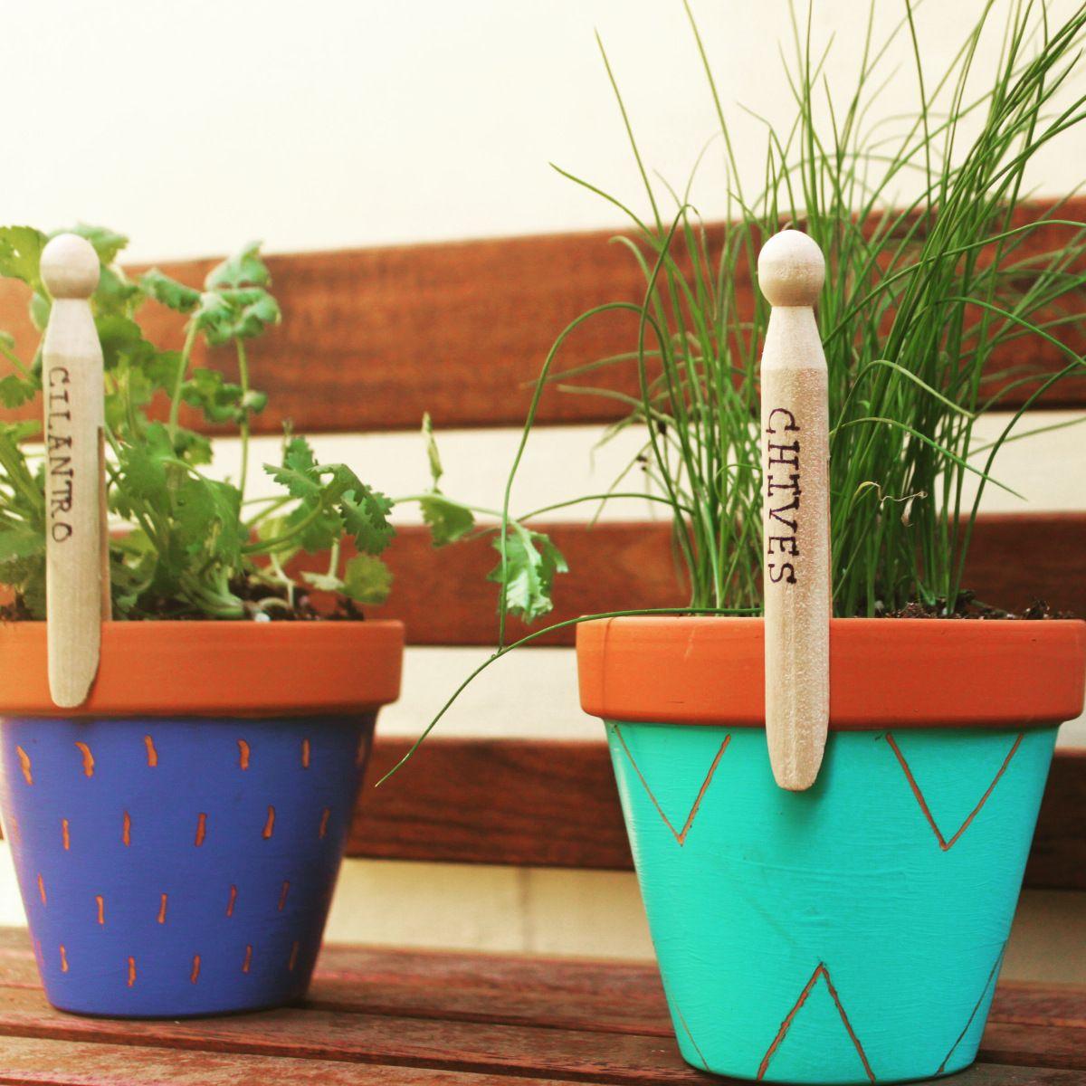 Affordable Backyard Vegetable Garden Designs Ideas 55: DIY Garden Labels : 5 Easy & Inexpensive Ideas For Urban