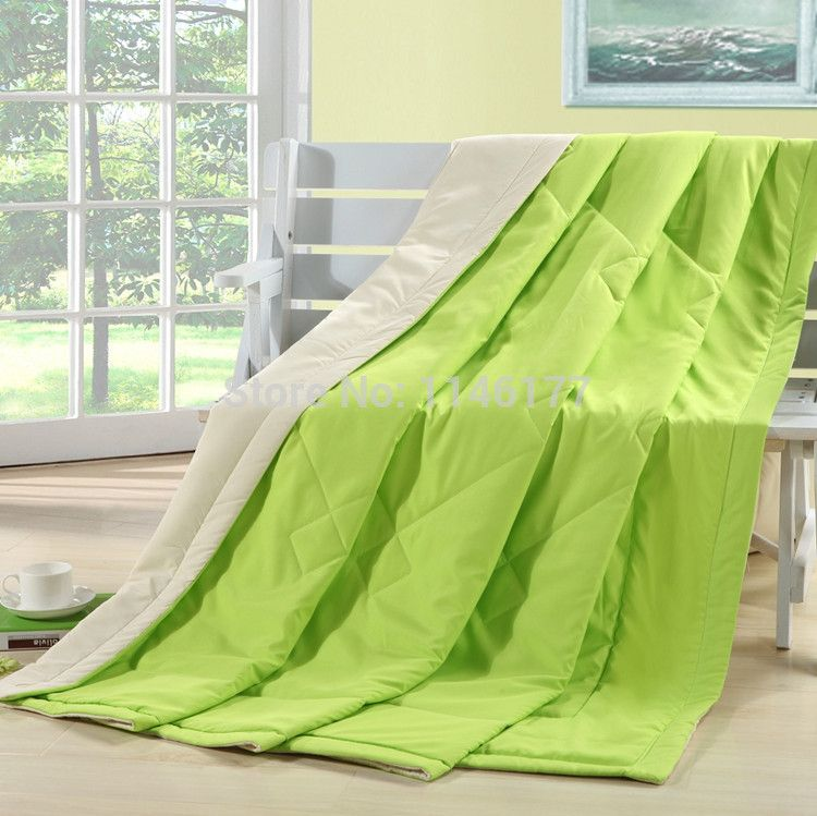 Ywxuege Green Cottonpolyester Quiltssolid Summer Quiltfull King