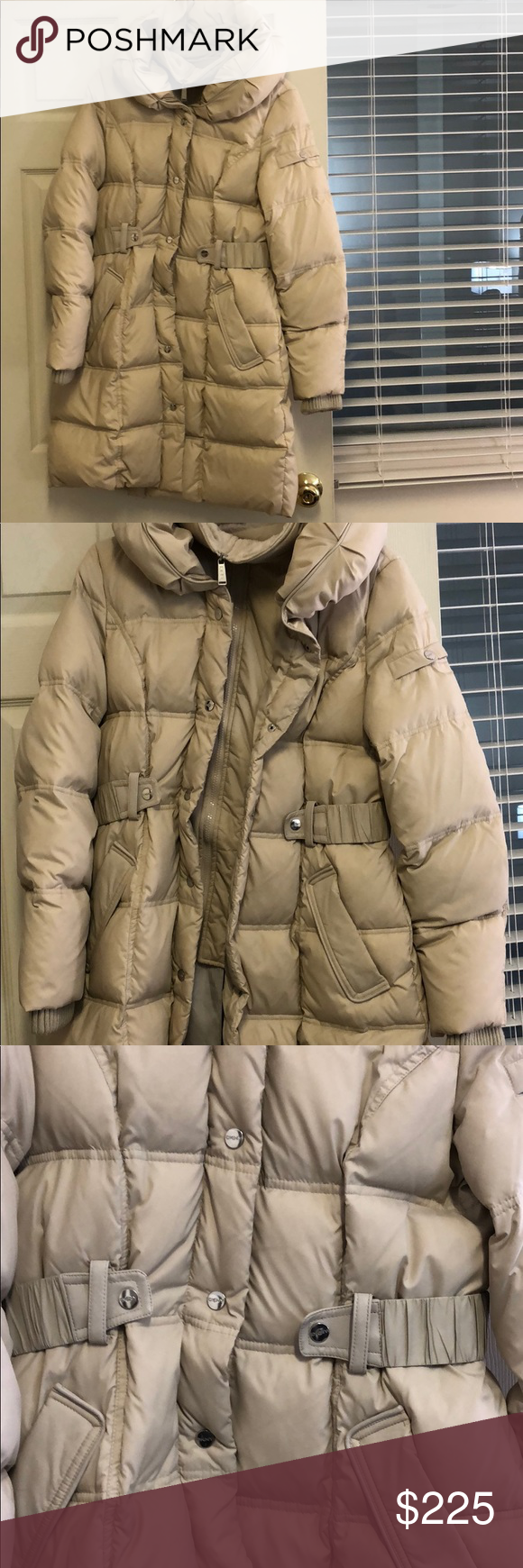 Dkny Faux Leather Trim Puffer Coat Dkny Leather Trims Puffer Coat [ 1740 x 580 Pixel ]