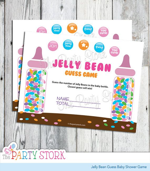 Candy Guessing Game Jelly Bean Guess Baby Shower Game Printable