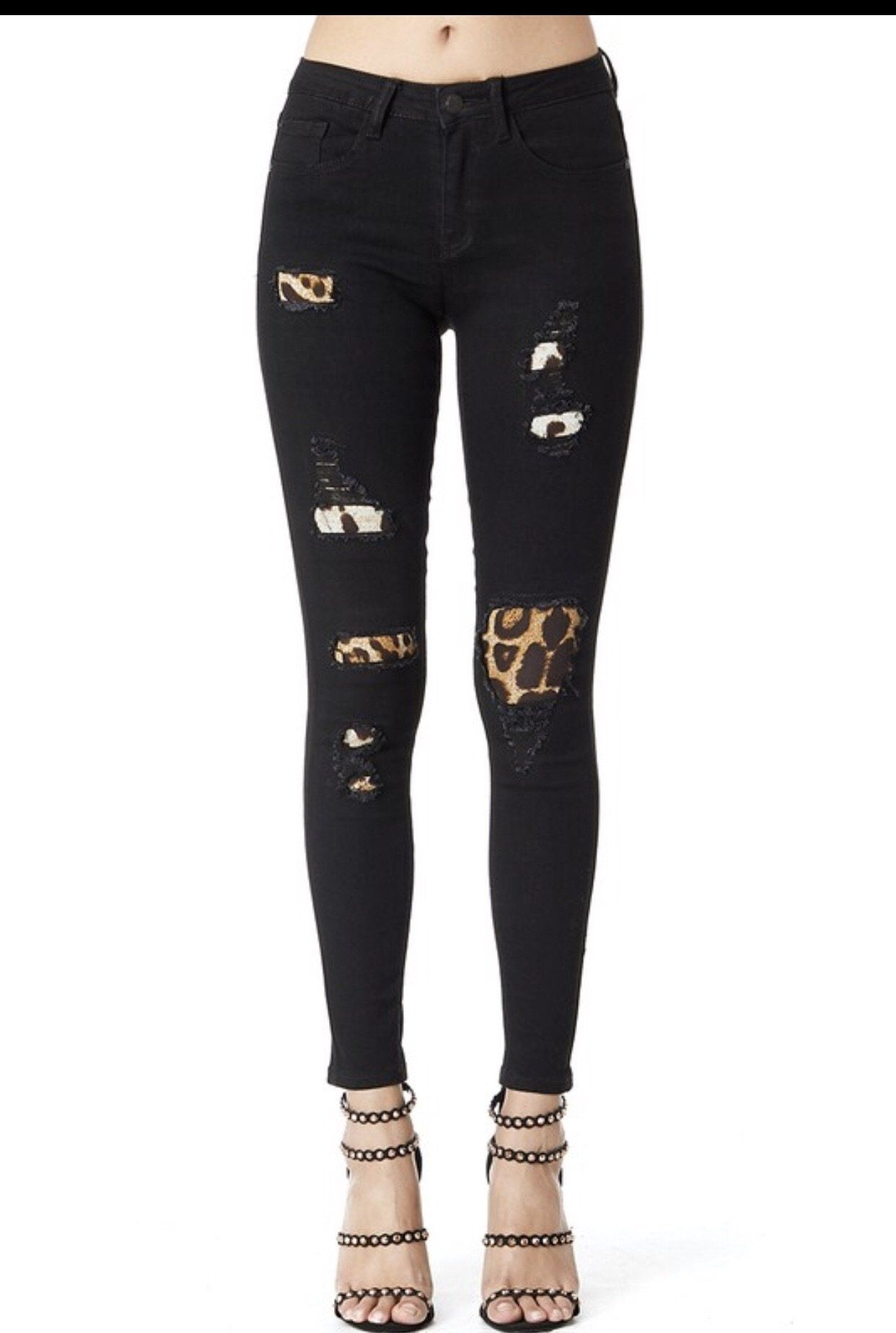 6298129c9b56 Leopard patch Judy blue jeans mid rise | Products | Jeans, Black ...