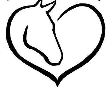 Horseshoe heart. Horse head possible tattoo
