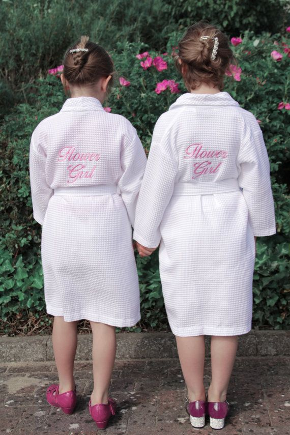 75aa6b82af367 Personalised Junior Waffle Gown, Perfect for Flower Girl, Mini ...