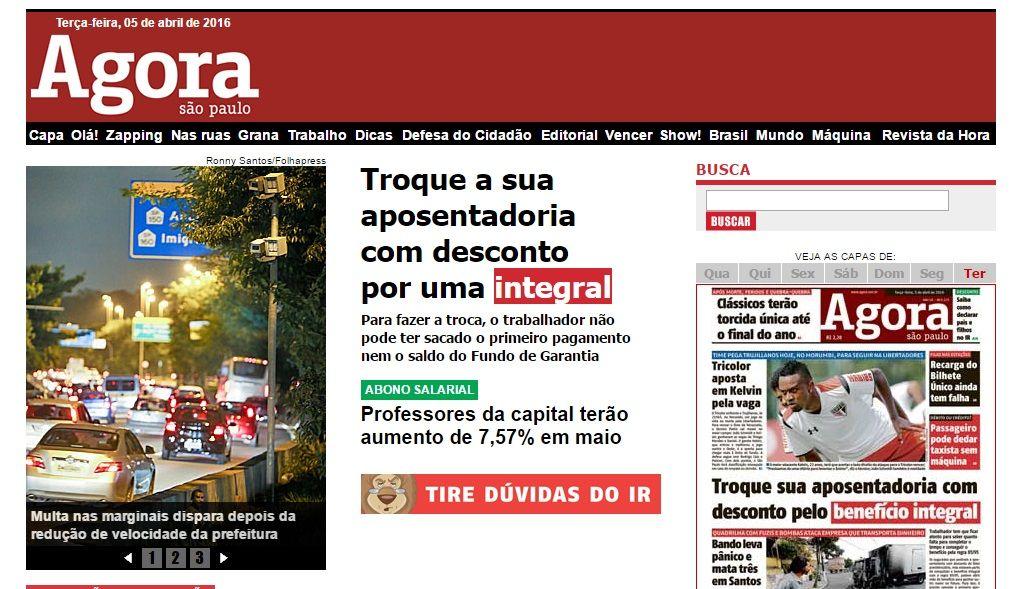 Jornal Agora SP | www.agora.uol.com.br