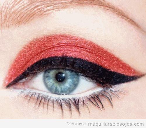 pintura de ojos estilo diablesa - Maquillaje Diablesa