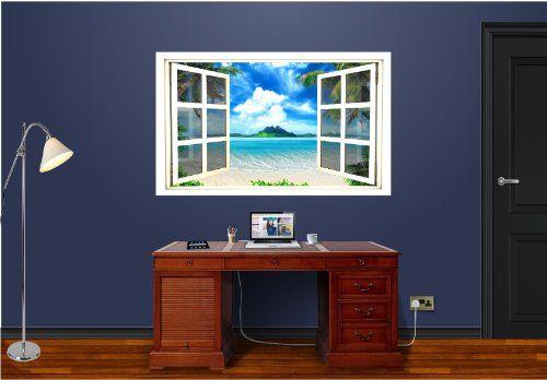 faux window art, love it