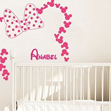 Minnie Mouse Bedroom Paint Google Search Quinns Room Pinterest - Minnie mouse wall decals
