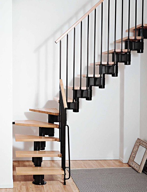 Best Kompact Stairs Black Modular Staircase Space Saver 400 x 300