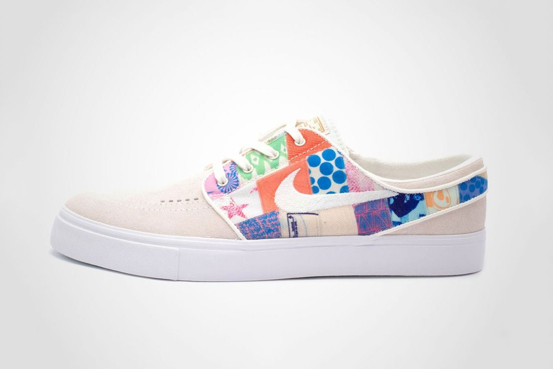 The Thomas Campbell x Nike SB Zoom Stefan Janoski Also Gets A  Colorfully-Patchworked Direction