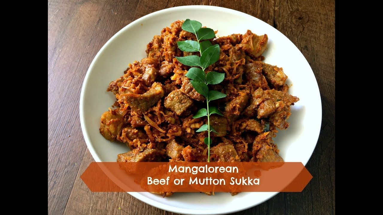 Beef Or Mutton Sukka Mangalorean Style Mutton Recipes Beef Recipes Beef