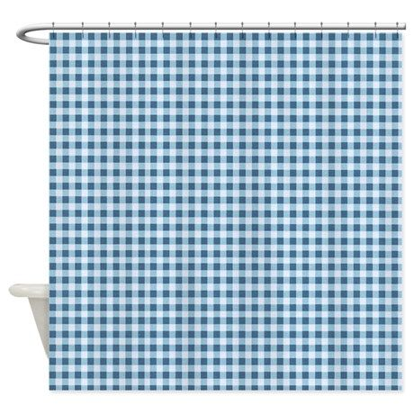 Classic Blue Gingham Plaid Shower Curtain On Cafepress Com Plaid