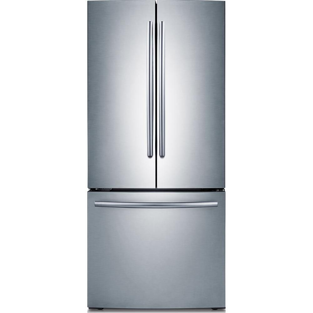 Samsung 30 In W 21 8 Cu Ft French Door Refrigerator In