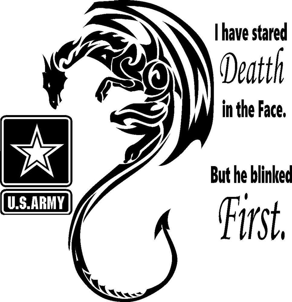 DRAGON US ARMY MILITARY VINYL DECAL STICKER CAR TRUCK WALL