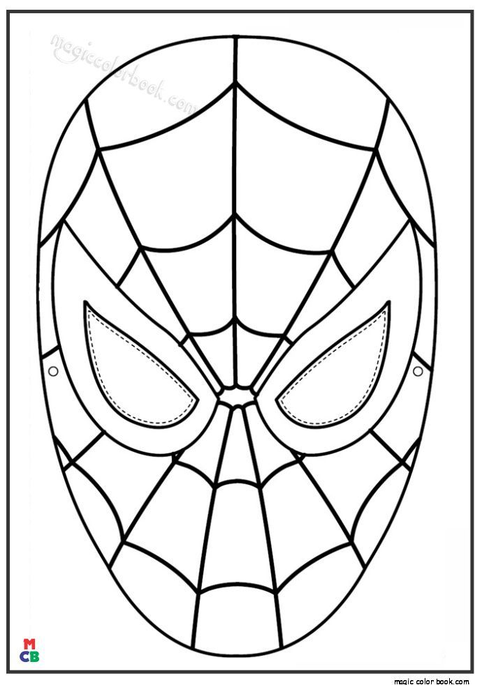 Coloring Pages Of Superman Symbols Spiderman Coloring Spiderman Face Spiderman Mask