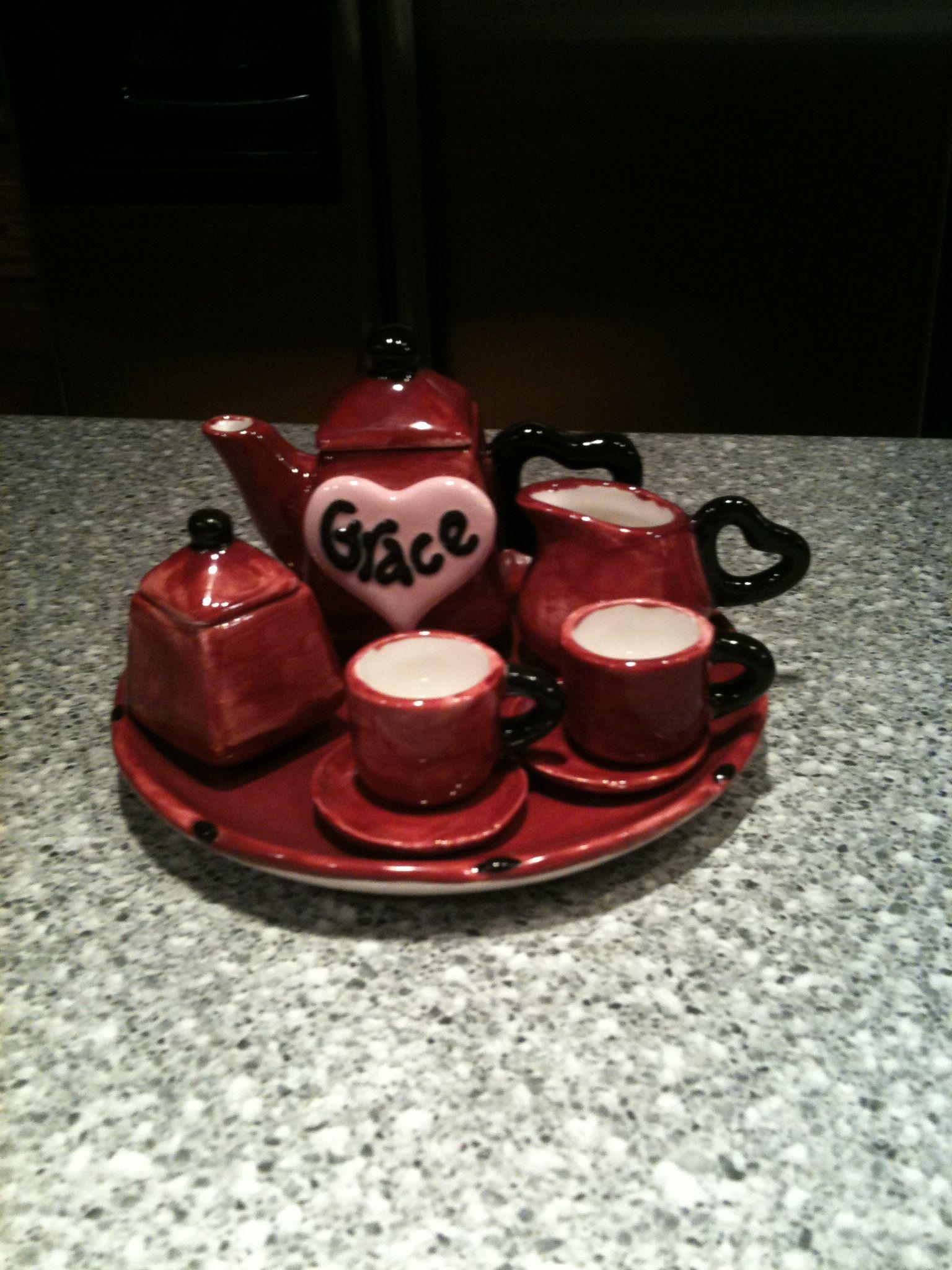 Miniature Tea Set Porcelain tea set, Kids tea set, Mini