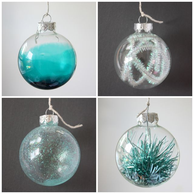 ways to fill a glass christmas bauble  christmas  Pinterest