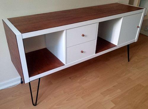 fabriquer un buffet sur pieds style scandinave avec une tagre ikea tutoriel et explications - Customiser Un Meuble Ikea