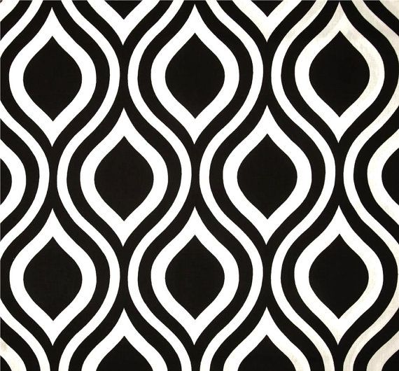 Charcoal & White Geometric Modern Home Decor Fabric By The Yard