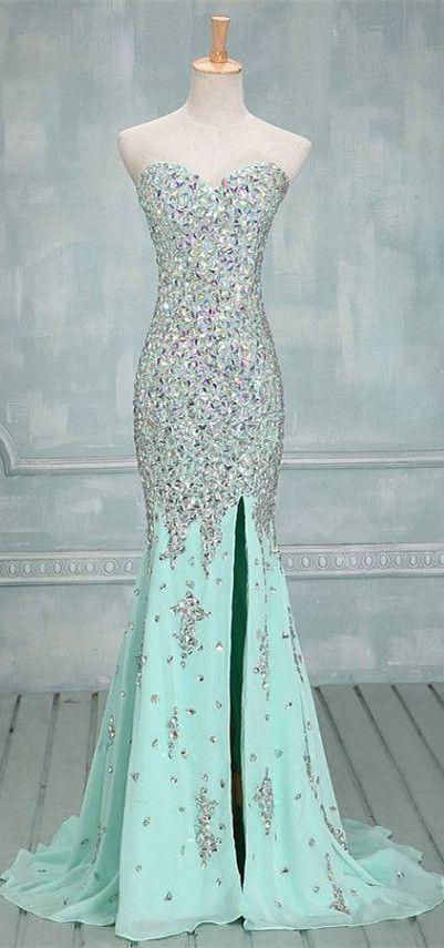 Vestidos de noiva verde agua