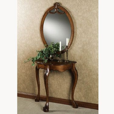 Raphael Wood Console Table And Mirror 369 99 Touch Of Class Com Mirrored Console Table Easy Home Decor European Home Decor