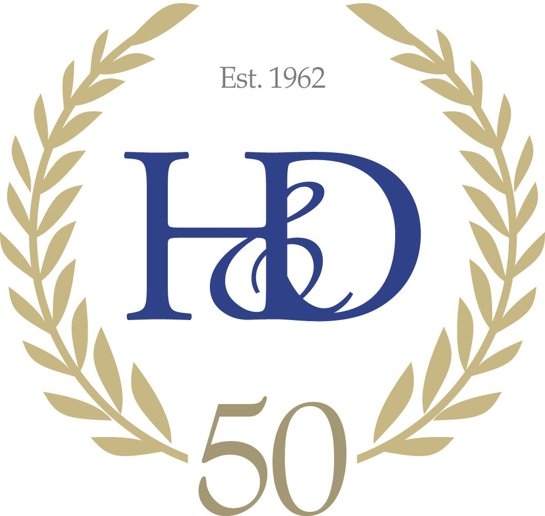 50th anniversary logo for our client hockley amp dawson