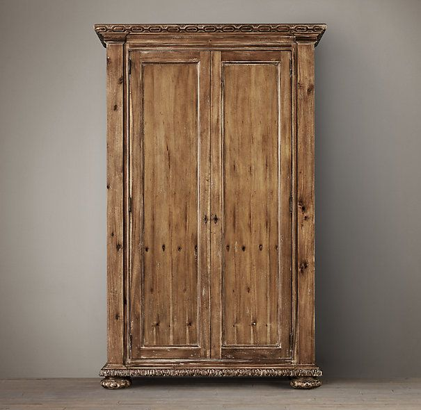 French Empire Armoire, Antiqued Natural, One On Each Side Of Mantle. Find  This Pin And More ...