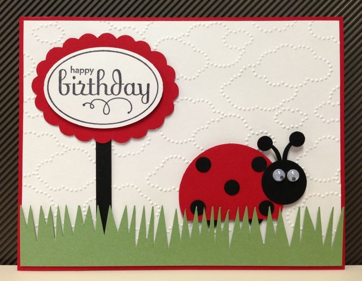 Stampin Up Birthday Cards For Kids ~ Ladybug birthday card punch art stampin up