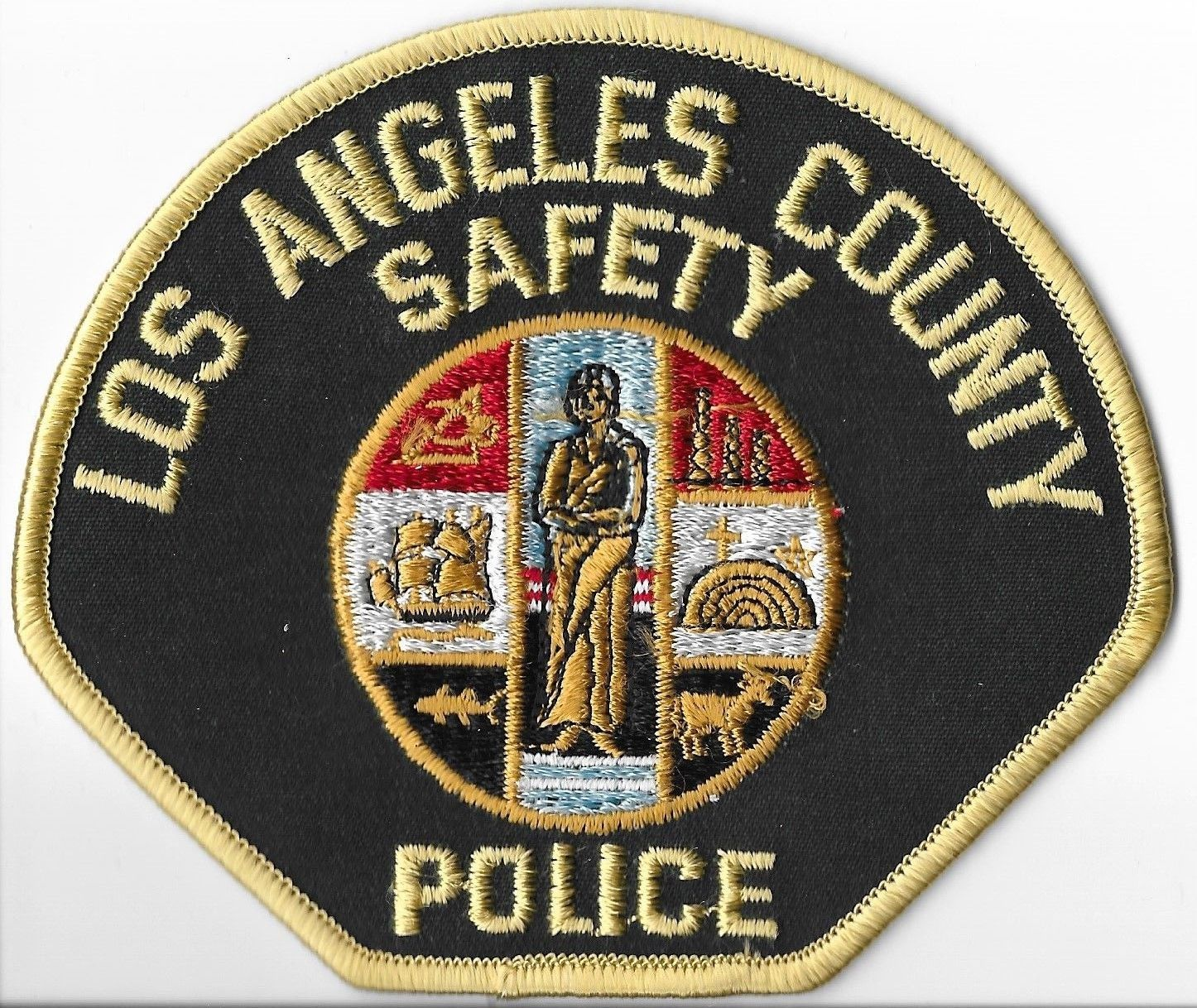 Los Angeles County California Safety Police Shoulder Patch 5 75 Picclick