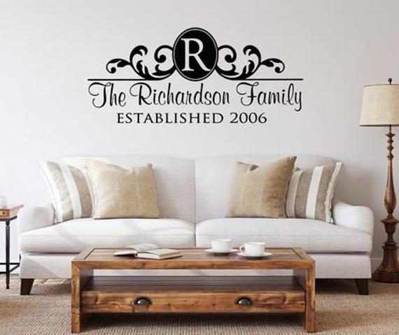 Words Lettering Wall Decals Personalized Family Name Art Wall Quote Stickers