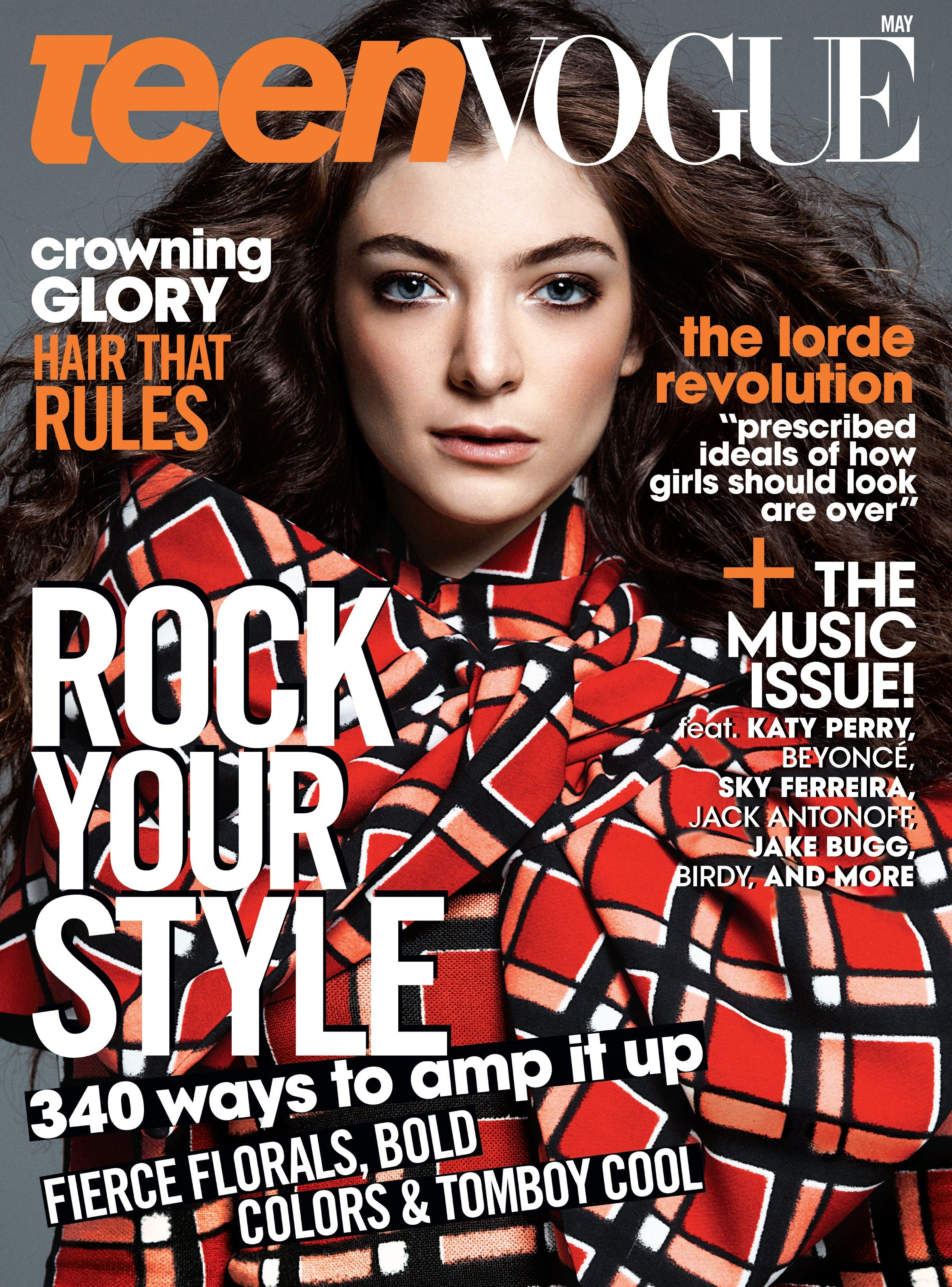 Lorde by Gregory Harris for Teen Vogue May 2014 | COVER MAGAZINE ...
